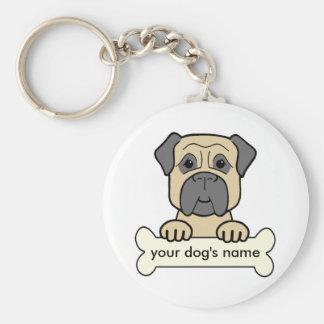 Personalized Bullmastiff Keychains