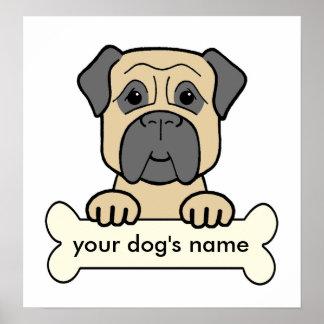 Personalized Bullmastiff Print