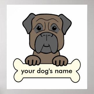Personalized Bullmastiff Posters
