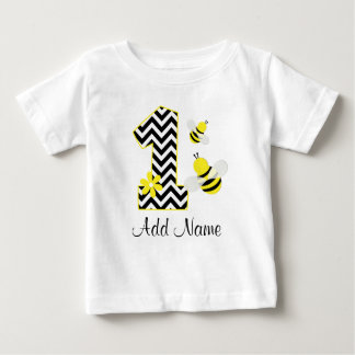 Personalized Bumble Bee 1st Birthday Chevron T-shirts