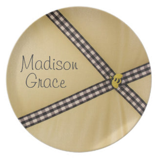 Personalized Bumble Bee Baby Plate