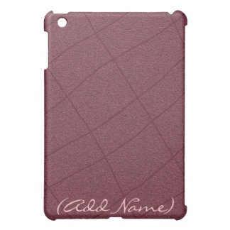 Personalized Burgundy Plaid iPad Case