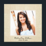"""Personalized Burlap Canvas 