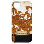 Personalized Burnt Orange Antique Scroll Work iPhone 5 Covers
