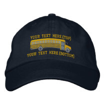 Personalized Bus Driver School Bus Embroidery Embroidered Baseball Hat