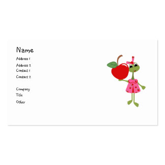 Personalized Business/Calling Card-Teacher & Apple Double-Sided Standard Business Cards (Pack Of 100)