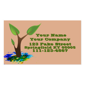 Personalized Business Card Plant Sprouting