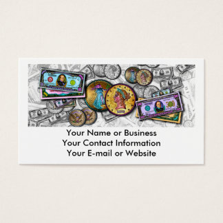Personalized Business Cards - Big Coin Pop Art