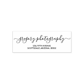 Personalized Business / Company Return Address Self-inking Stamp