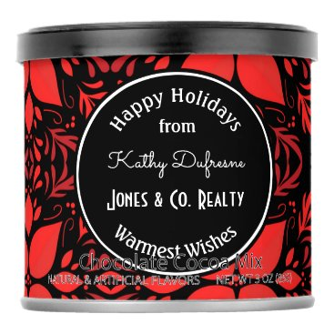 Beach Themed Personalized Business Holiday Greeting Poinsettia Hot Chocolate Drink Mix