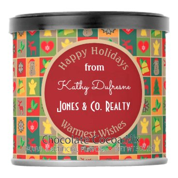 Beach Themed Personalized Business Holiday Greetings Festive Hot Chocolate Drink Mix
