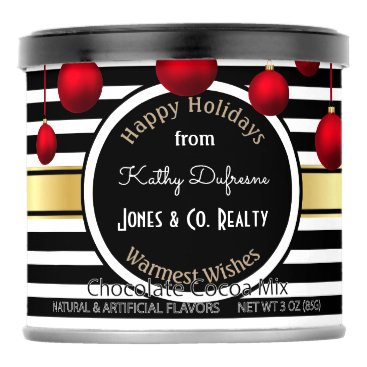 Beach Themed Personalized Business Holiday Greetings Hot Chocolate Drink Mix