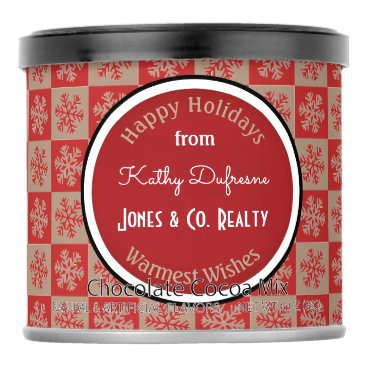 Beach Themed Personalized Business Holiday Greetings Snowflakes Hot Chocolate Drink Mix