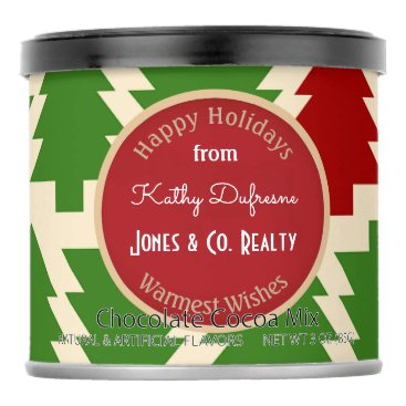 Beach Themed Personalized Business Holiday Greetings Trees Hot Chocolate Drink Mix