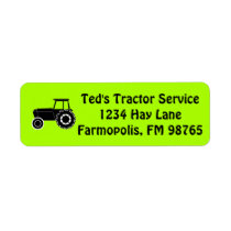 Personalized Business Mail Country Farm Tractor Label