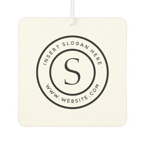 Personalized Business Monogram Air Freshener