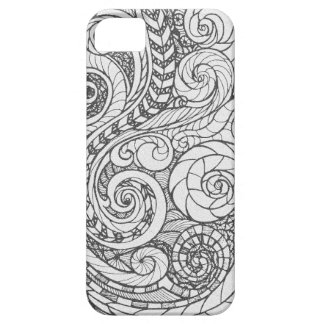 Personalized Busy Art Doodle Design iPhone SE/5/5s Case