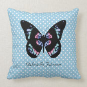 Personalized Butterfly American MoJo Pillow throwpillow