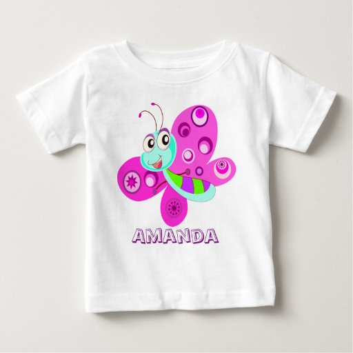 Personalized Butterfly Baby T Shirt Zazzle