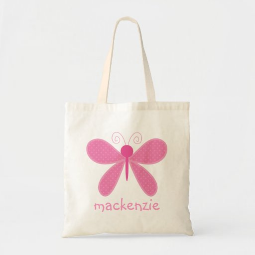 Personalized Butterfly Bookbag Canvas Bags