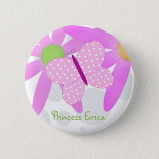 Personalized Butterfly Button