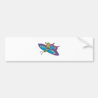 Personalized Butterfly Girl Bumper Stickers