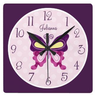 Personalized Butterfly Lane Nursery Clock