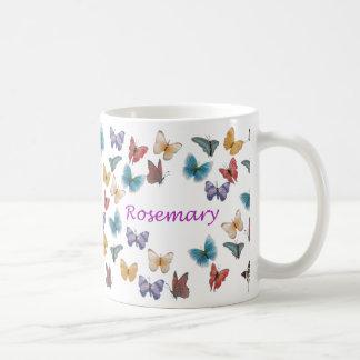 Personalized Butterfly Mug - Rosemary