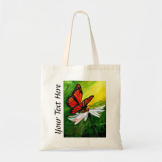 Personalized Butterfly Oil Painting Tote Bag
