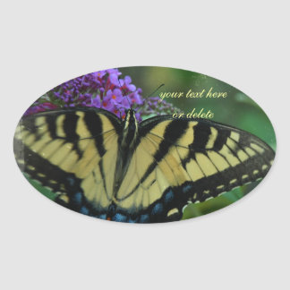 Personalized Butterfly Oval Stickers