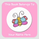 Personalized Butterfly Sticker Square Sticker