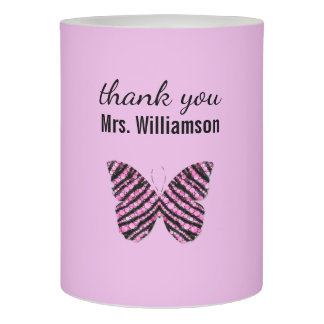Personalized Butterfly Teacher Appreciation Gift Flameless Candle