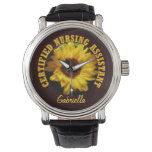 Personalized C.N.A Sunflower Watch