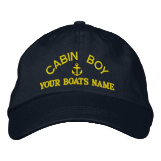 Personalized cabin boy  yacht crew embroidered baseball caps