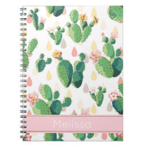 Personalized Cactus Print Notebook