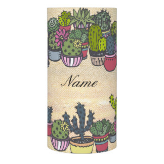 Personalized Cactus Wreath Flameless Candle
