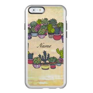 Personalized Cactus Wreath Incipio Feather Shine iPhone 6 Case