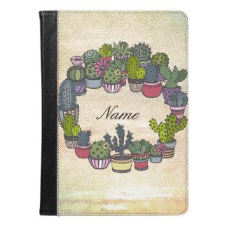 Personalized Cactus Wreath iPad Air Case