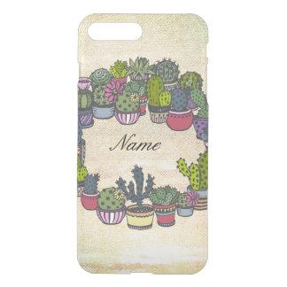 Personalized Cactus Wreath iPhone 8 Plus/7 Plus Case