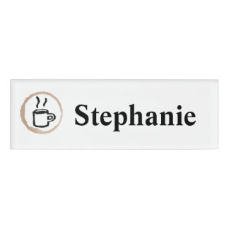 Personalized Cafe Barista Coffee Name Tag