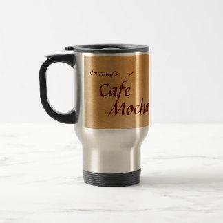 Personalized Cafe Mocha Copper Travel Mug