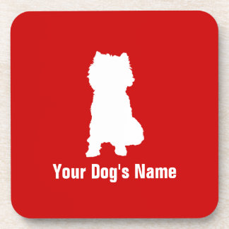 Personalized Cairn Terrier ケアーン・テリア Beverage Coaster