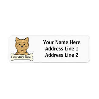 Personalized Cairn Terrier Return Address Labels