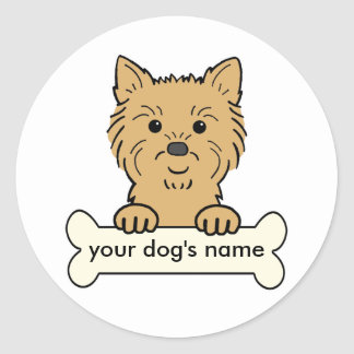 Personalized Cairn Terrier Round Stickers