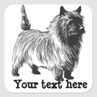 Personalized Cairn Terrier Stickers