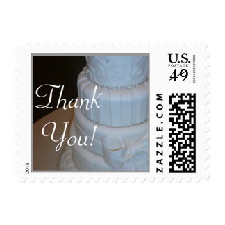 Personalized Cake Bridal Shower postage stamp