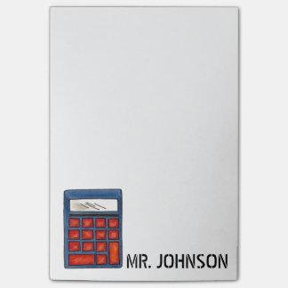 Personalized Calculator Math Teacher Gift Post-It Post-it® Notes