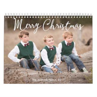 Personalized Calendar 2017 Christmas Greetings