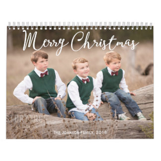 Personalized Calendar 2018 Christmas Greetings