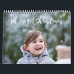 "Personalized Calendar 2018 Snowing Christmas<br><div class=""desc"">In Personalized calendar 2018 (January - December) with Christmas greetings you can find a lot of pictures of cute kids and their families. But you can easily replace these photo with your and make your unique and special calendar with your kids, family members or anything you love the most. United...</div>"